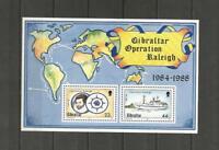 GIBRALTAR -1988 Operation Raleigh - MUH MINIATURE SHEET.