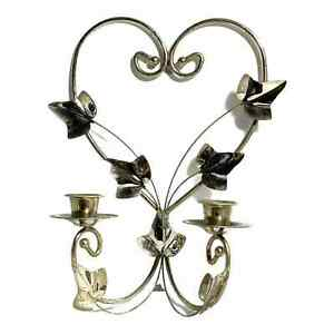 Home Interiors Double Candle Wall Sconce