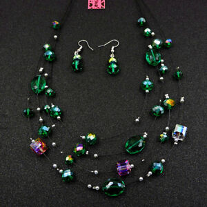 Betsey Johnson Fashion Jewelry Noble Bead Gemstone Chain Necklace