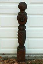 Antique Vintage Victorian Ornate Carved Stairway Stair Newel Post Wood Wooden
