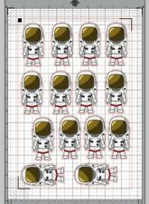 14 x Spaceman Pre-Cut Edible Wafer Cupcake Toppers