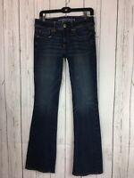 American Eagle Kick Boot Super Stretch Denim Jeans Size 6 Long Womens AEO Tall