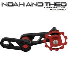 una velocidad Adaptador TENSOR DE CADENA MTB Bicicleta singulator Seeker Rojo