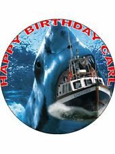 7.5 JAWS SHARK EDIBLE ICING BIRTHDAY CAKE TOPPER