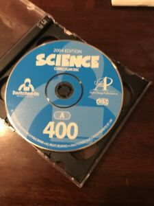 Switched On Schoolhouse (SOS) 2004 Science great condition! 4th grade