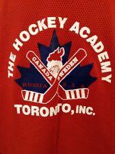 The Hockey Academy Toronto Men's Jersey Size L Lightweight Red White Blue
