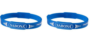 2 Pack - Sabona Pro Magnetic Sport Wristband - Sports Package (Blue, Large 7.5)