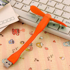 Orange Portable Flexible USB Mini Fan Xiaomi Charge For all Power Supply USB