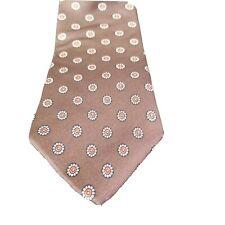 B. Mens Tie All Silk Brown Neckwear Vintage Necktie