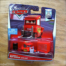 Disney PIXAR Cars MY NAME IS NOT CHUCK diecast PISTON CUP 17/18 Pitty WITH CART