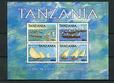 Tanzania 2004 MNH Dhow Events in Zanzibar 4v M/S Sailing Boats Ships Stamps
