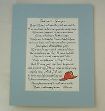 FIREMAN PRAYER Courage PROTECT Fellow Men LORD BLESS Save verses poems plaques