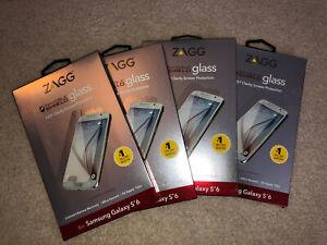 SET OF 4 - ZAGG Privacy Glass InvisibleShield GS6GPC Warranty Samsung Galaxy S6