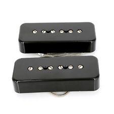 Lindy Fralin Soapbar P-90 Pickup set -10% neck Gibson Les Paul * SG P90 BLACK