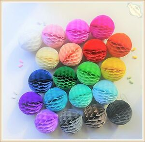 Honeycomb Balls Tissue Paper Pom Poms Wedding Party Lantern Home Decor AU Stock