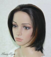 Handsewn Perruque FULL LACE FRONT Short Wigs 5171#1BF27