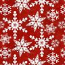 HOLIDAY HOMESTEAD RED SNOWFLAKES COUNTRY CHRISTMAS QUILTING FABRIC NO. 9