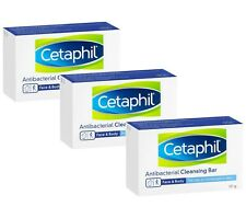 Cetaphil Gentle Cleansing Antibacterial Bar Soap 3 Pack