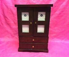 Bombay Company Vintage Wooden Keepsake Photo Frame Cabinet,Storage - Rare!