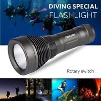 sous l'eau 500m 5000LM XM-L T6 LED plongée Lampe torche 18650 UK