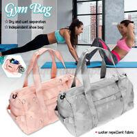 Large Sport Yoga Fitness Gym Bag Shoulder Duffle Men Women Handbag Wet Dry