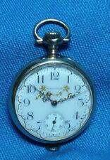Antique 1907 Waltham Fancy Dial Swivel Pendant  Pocket Watch