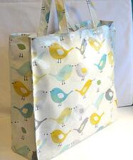 Dee's Handmade Quality Oilcloth Shopping Tote bag - Scandi Birds