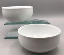 Pair of Block Spal Portugal Paris Collection White Porcelain Cereal Bowls FINE