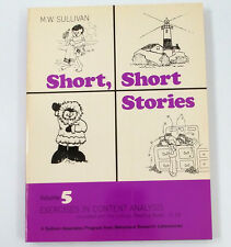 Short Stories Vol 5 Sullivan Reading Books 21-24 Exercises in Content Analysis