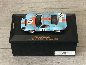 IXO MODELS LMC027 Ford GT40 Gulf #11 24h Le Mans 1968 Oliver Muir 1/43