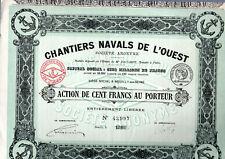 Action 1918 : Chantiers Navals de l'Ouest  ( imp. Richard )( marine )