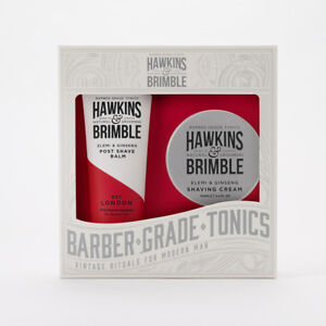 Hawkins & Brimble Grooming Gift Set with After Shave Balm & Shaving Cream