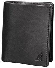New ~ KANGOL Phil Slim Wallet ~ Black Genuine Leather ~ NWT