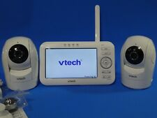 "Vtech Vm5262-2 5"" Digital Video Baby Monitor w 2 Pan Tilt Cameras Full Color"