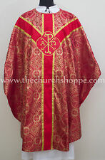 Gothic Red metallic vestment,stole &5pc mass set Gothic chasuble,casula,casel