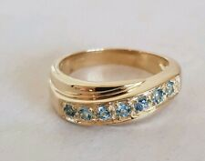 9ct yellow Gold Dress Ring.Claw set in white gold with semi-precious Gemstones