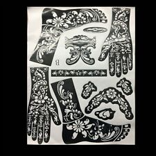 Latest India Mehndi Hand Leg Henna Painted Stencil Art Temporary Tattoo Template