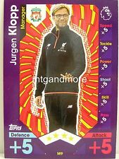 Match Attax 2016/17 Premier League -  M9 Jurgen Klopp - Manager
