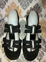 Women's Black COMFORT PLUS by PREDICTIONS Strappy Slide Sandals ~ Size 12