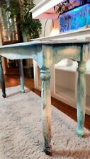 Colorful Antiqued Distressed Hallway Table