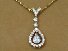 JEWELRY Pendant NEW White Topaz Natural Gemstone Pendant GOLD FILLED