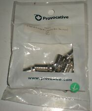 F-TYPE RG-6 CRIMP-ON CONNECTOR MALE ONE PIECE F56AL-1 PROVO PROVOCATIVE 10 PCS