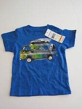 NWT Quiksilver Infant Toddler 12M Short Sleeve T-Shirt Blue Open Road Surf Board