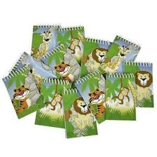 4 X JUNGLE ZOO ANIMAL NOTEPADS - KIDS SCHOOL STATIONERY PARTY BAG FILLER GIFT