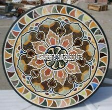 Attractive Marble Dining Top Table Mosaic Traditional Inlay Decorative Art H4043