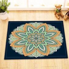 """Mandala Leaves 15X23"""" Kitchen Bedroom Shower Floor Door Non-Slip Bath Mat Rug"""