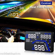 "For Q7 HUD 5.5"" Car GPS Head Up Display Windscreen Projector Speed Fuel Warning"