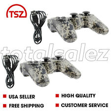 2 For Sony Playstation 3 PS3 Camo Wireless Bluetooth Video Game Controller Cord