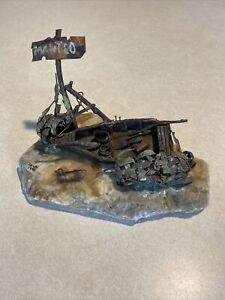 Vintage MCM Brutalist Art Copper Boat Sculpture Jim Lewk Signed