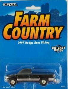 1/64 Ertl 1997 Black Dodge Ram Truck